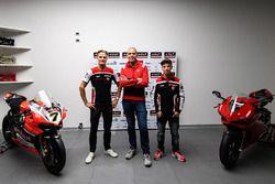 Marco Melandri, Ducati Team, Chaz Davies, Ducati Team, Ernesto Marinelli, Ducati Superbike Project D