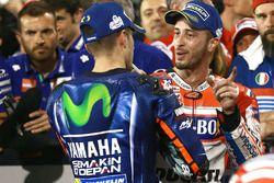 Race winner Maverick Viñales, Yamaha Factory Racing, Andrea Dovizioso, Ducati Team