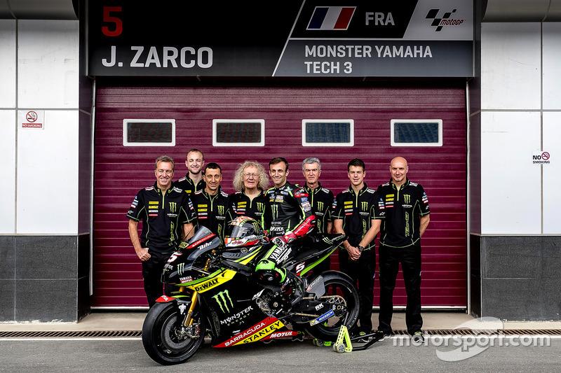 Johann Zarco, Monster Yamaha Tech 3 mit dem Team