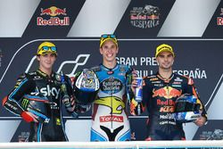 Podium: race winner Alex Marquez, Marc VDS, second place Francesco Bagnaia, Sky Racing Team VR46, third place Miguel Oliveira, Red Bull KTM Ajo