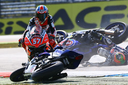 Marvin Fritz, Bayer-Bikerbox Yamaichi, Roberto Tamburini, Pata Yamaha, Mike Jones crash