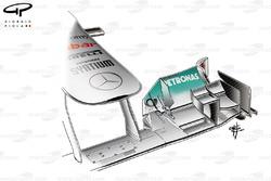 Aileron avant de la Mercedes W02