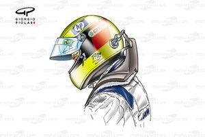 Ralf Schumacher helmet & HANS device