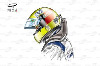 Casque et système HANS de Ralf Schumacher