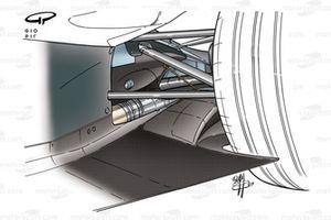 McLaren MP4-18 2003 floor detail