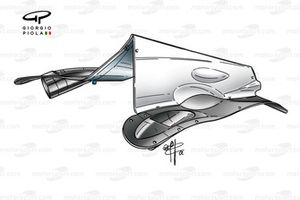 Williams FW24 2002 exhaust outlet detail