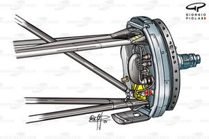 Suspension avant de la Ferrari F2001