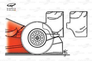 إختلافات الجناح الخلفي لسيارة فيراري اف399