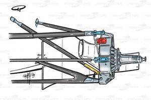BAR 01 front suspension