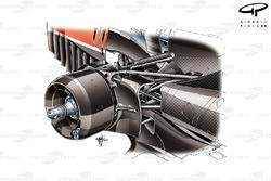 Les suspensions arrière de la Ferrari F14 T