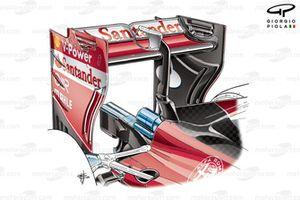 Заднее антикрыло Ferrari SF16-H с низким уровнем прижимной силы