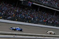 Takuma Sato, Andretti Autosport Honda, Helio Castroneves, Team Penske Chevrolet