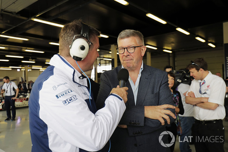 David Croft; Ross Brawn, Sportchef, FOM