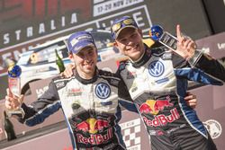 Les vainqueurs Andreas Mikkelsen, Anders Jæger, Volkswagen Polo WRC, Volkswagen Motorsport