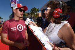Kyle Larson, Chip Ganassi Racing Chevrolet, Claire B. Lang, Sirius NASCAR radio