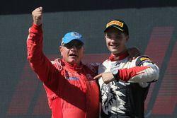 Podium WRC3: winnaars Michel Fabre, Maxime Vilmot