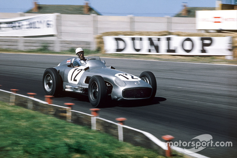 Stirling Moss, Mercedes Benz W196, GP de Inglaterra de 1955