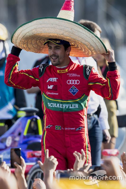 El ganador de la carrera, Lucas Di Grassi, ABT Schaeffler Audi Sport