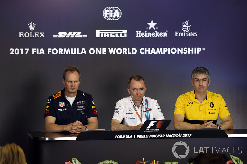 Paul Monaghan, Red-Bull-Chefingenieur, Paddy Lowe, Williams-Technikchef, Nick Chester, Renault-Techn