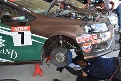 Volkswagen mechanic at work
