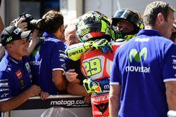 Le poleman Andrea Iannone, Ducati Team et Valentino Rossi, Yamaha Factory Racing