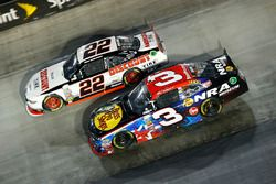 Ty Dillon, Richard Childress Racing, Chevrolet; Brad Keselowski, Team Penske, Ford