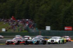 #84 AMG-Team HTP Motorsport, Mercedes-AMG GT3: Dominik Baumann, Jazeman Jaafar, Maximilian Buhk; #57