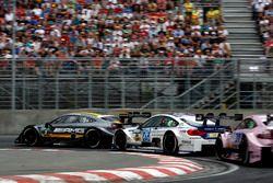 Paul Di Resta, Mercedes-AMG Team HWA, Mercedes-AMG C63 DTM; Maxime Martin, BMW Team RBM, BMW M4 DTM