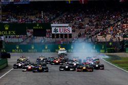 Alex Lynn, DAMS, devance Antonio Giovinazzi, PREMA Racing, Gustav Malja, Rapax et Oliver Rowland, MP Motorsport