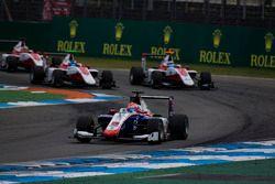Antonio Fuoco, Trident leads Charles Leclerc, ART Grand PrixAlexander Albon, ART Grand Prix, Nyck De