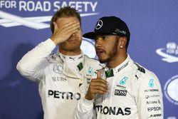 Polesitter Lewis Hamilton, Mercedes AMG F1 Team, second place Nico Rosberg, Mercedes AMG F1 Team