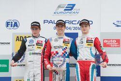 Подиум - Джоэль Эрикссон, Motopark Dallara F312 – Volkswagen, Бен Барникот, HitechGP Dallara F312 –