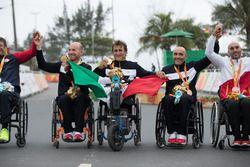 Alex Zanardi met het Italiaanse team