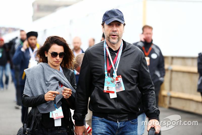 La actriz enelope Cruz con su esposo el actor Javier Bardem, Actor
