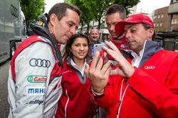 Audi Sport Team Joest: Benoit Tréluyer, race engineer Leena Gade en Andre Lotterer