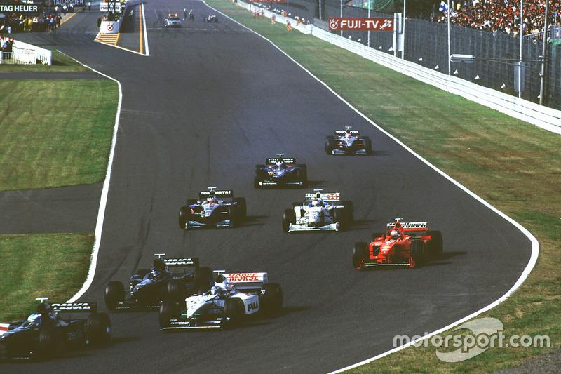 Michael Schumacher, Ferrari, lors du départ