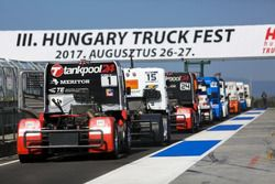 Trucks are waiting in pitlane
