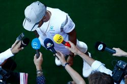 Lewis Hamilton, Mercedes AMG F1 talks with media