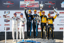 Podium: race winners, Ricky Taylor, Jordan Taylor, Wayne Taylor Racing, PC first place, Mikhail Goik