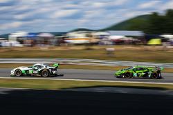 #33 Riley Motorsports SRT Viper GT3-R: Ben Keating, Jeroen Bleekemolen; #16 Change Racing Lamborghin