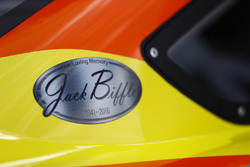 Jack Biffle sticker on the car of Ricky Stenhouse Jr., Roush Fenway Racing Ford