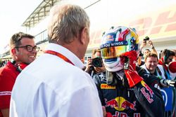 (LtoR):Rene Rosin, Team Manager PREMA,Dr. Helmut Marko,Red Bull Racing,Pierre Gasly, PREMA Racing