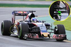 Détails de l'arrière de la Toro Rosso STR11 de Max Verstappen
