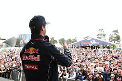 Daniel Ricciardo, Red Bull Racing talks to fans with Will Buxton, NBC Sports