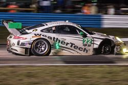 #22 Alex Job Racing, Porsche 991 GT3 R: Cooper MacNeil, Leh Keen, Gunnar Jeannette missing a wheel