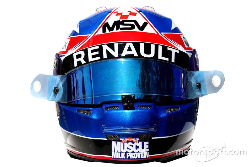 Le casque de Jolyon Palmer, Renault Sport F1 Team