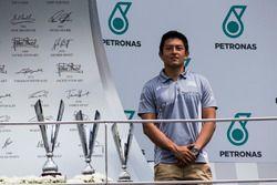 Rio Haryanto, podium GP3 Series, Sepang, Malaysia