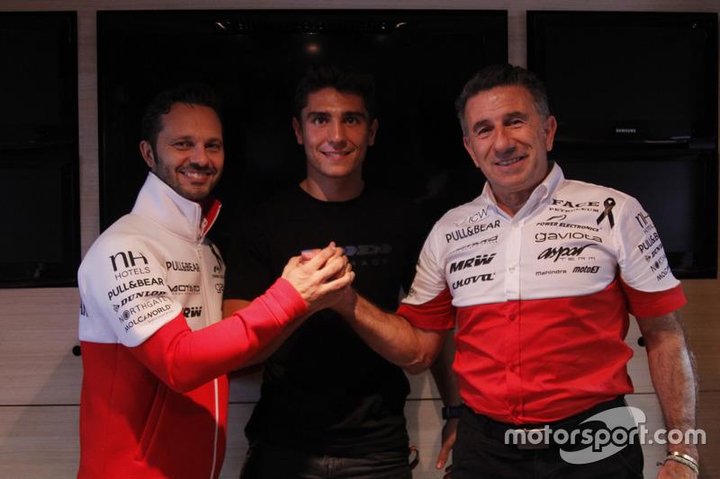 Albert Arenas dan bos Aspar Mahindra, Jorge Martinez