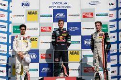 Podium: Race winner Niko Kari, Motopark Dallara F312 – Volkswagen; second place Lance Stroll, Prema Powerteam Dallara F312 – Mercedes-Benz; third place Joel Eriksson, Motopark Dallara F312 – Volkswagen