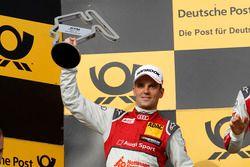 Podium: tweede plaats Jamie Green Audi Sport Team Rosberg, Audi RS 5 DTM